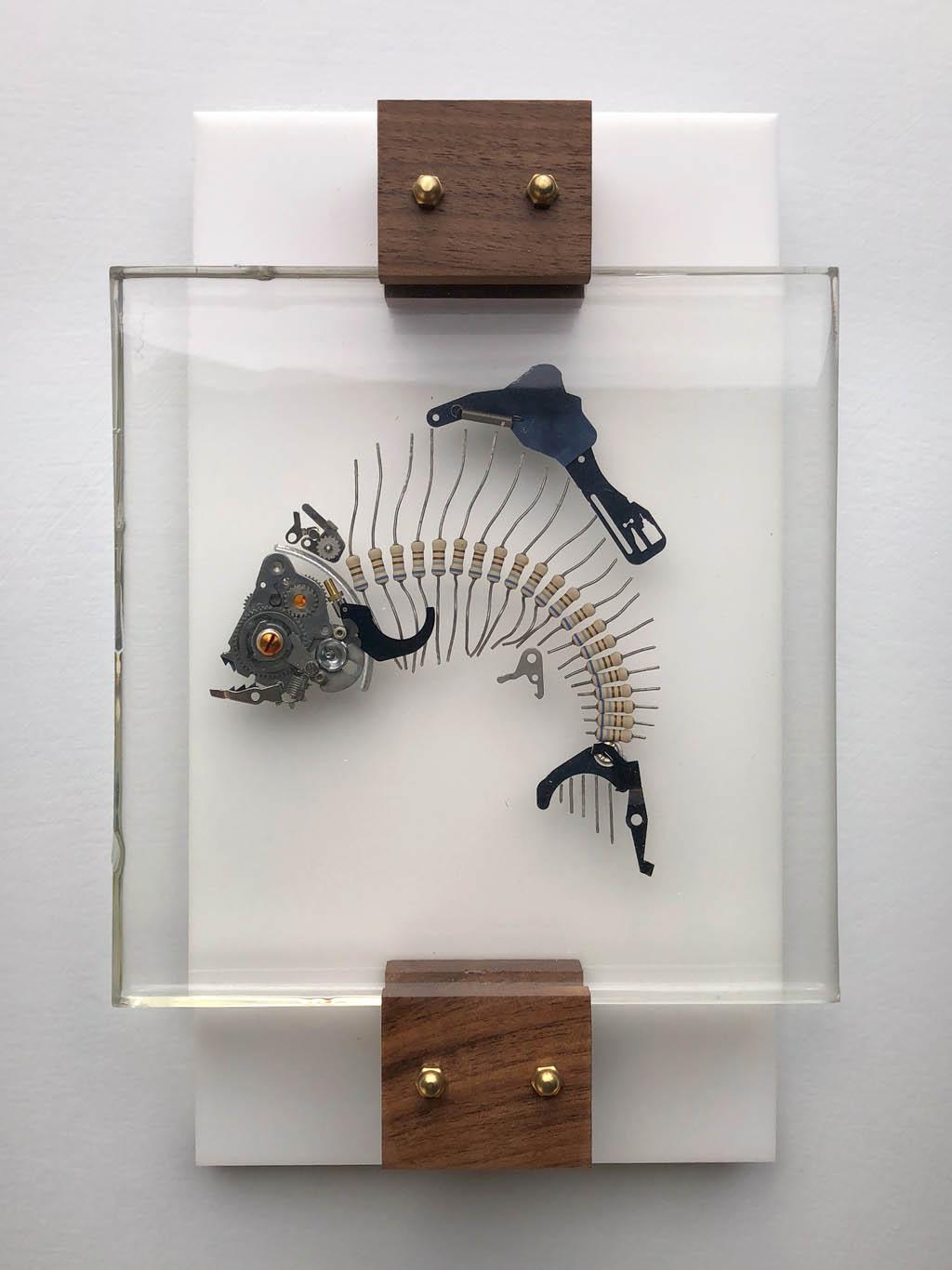 fish sculpture assemblage by lex talkington