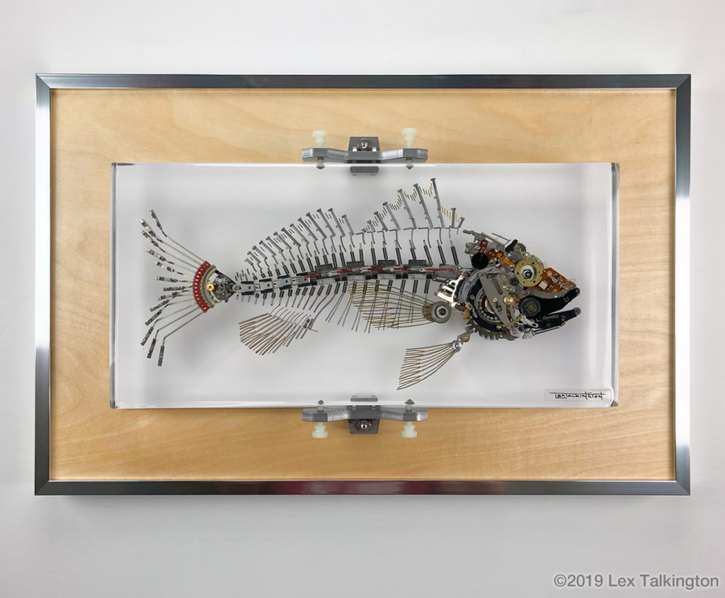 Lex Talkingotn bass fish sculpture