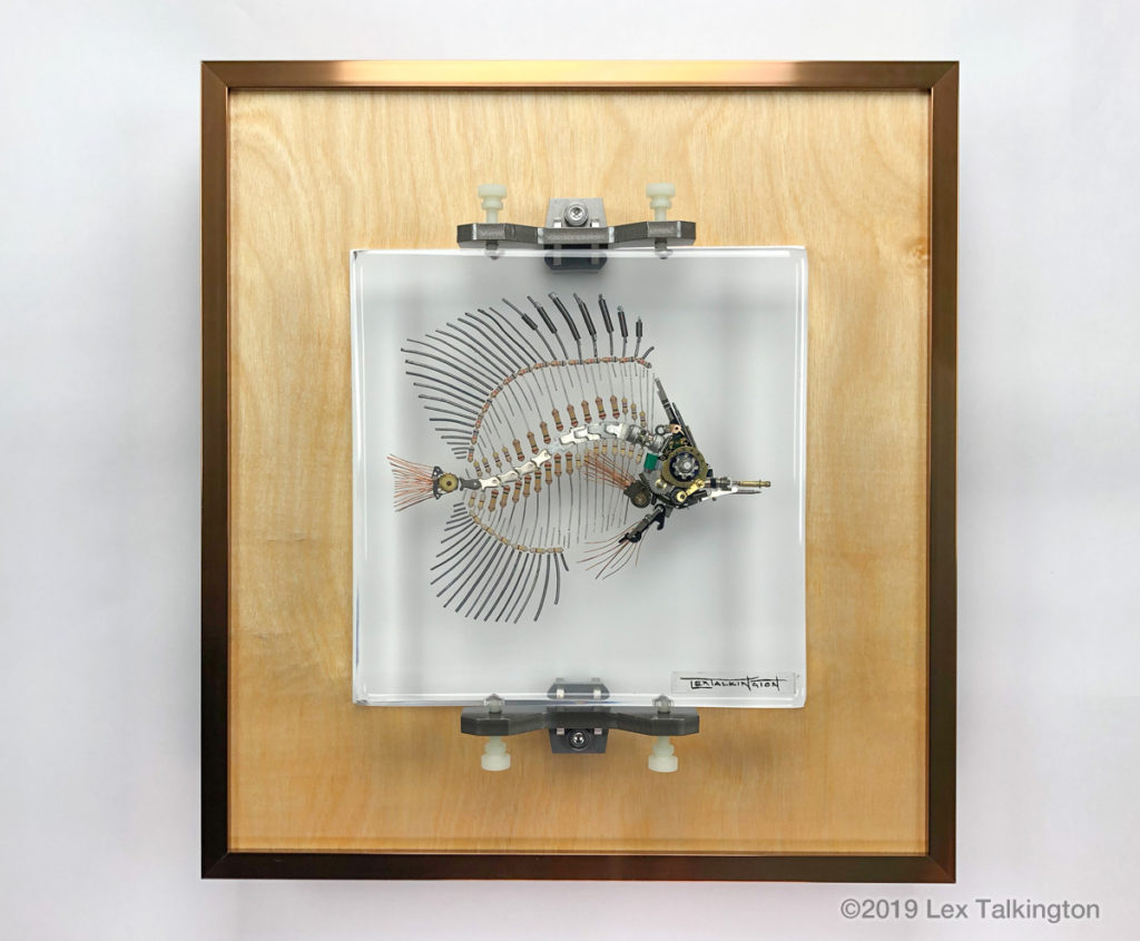 Lex Talkington butterflyfish sculpture