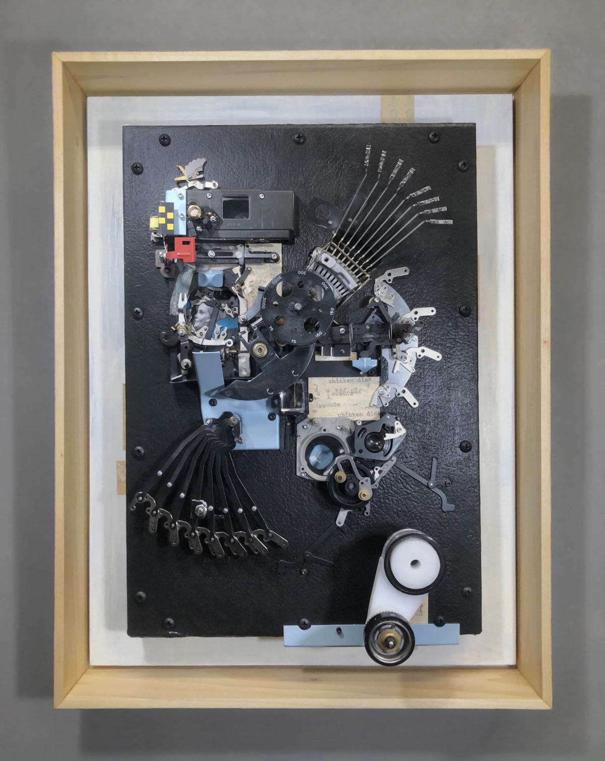 automata chicken wall art by lex talkington