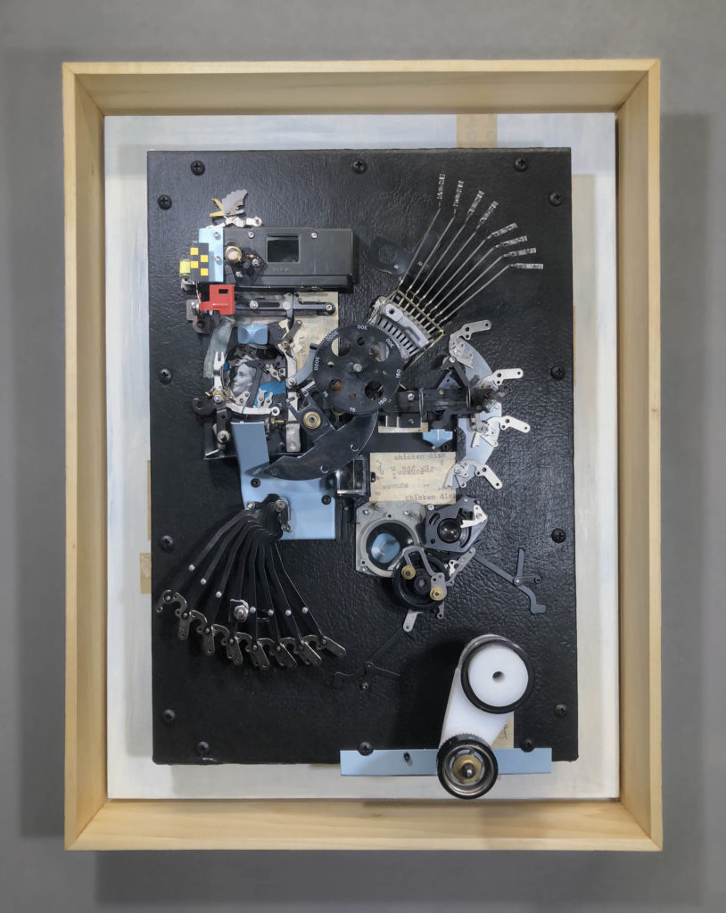 automata chicken wall art by lex talkington