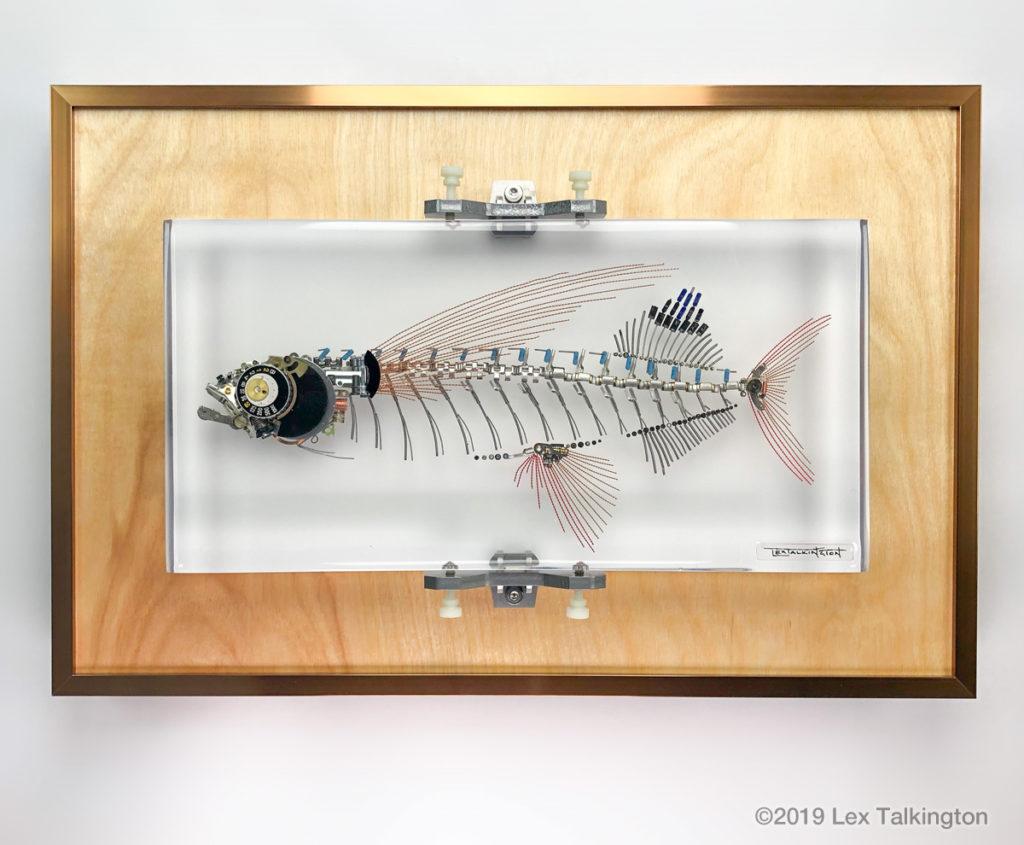 Lex Talkington flying fish sculpture