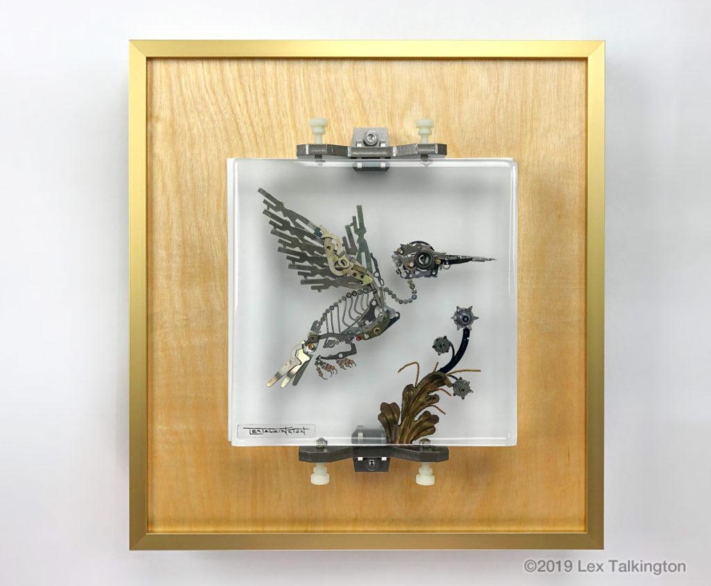 Lex Talkington hummingbird sculpture