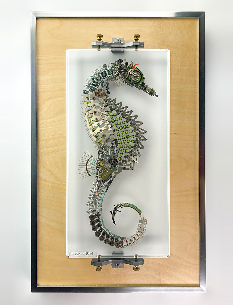 Lex Talkington seahorse sculpture