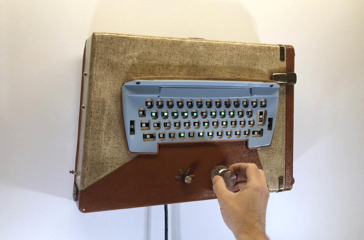 lex talkington interactive art keyboard wall sculpture
