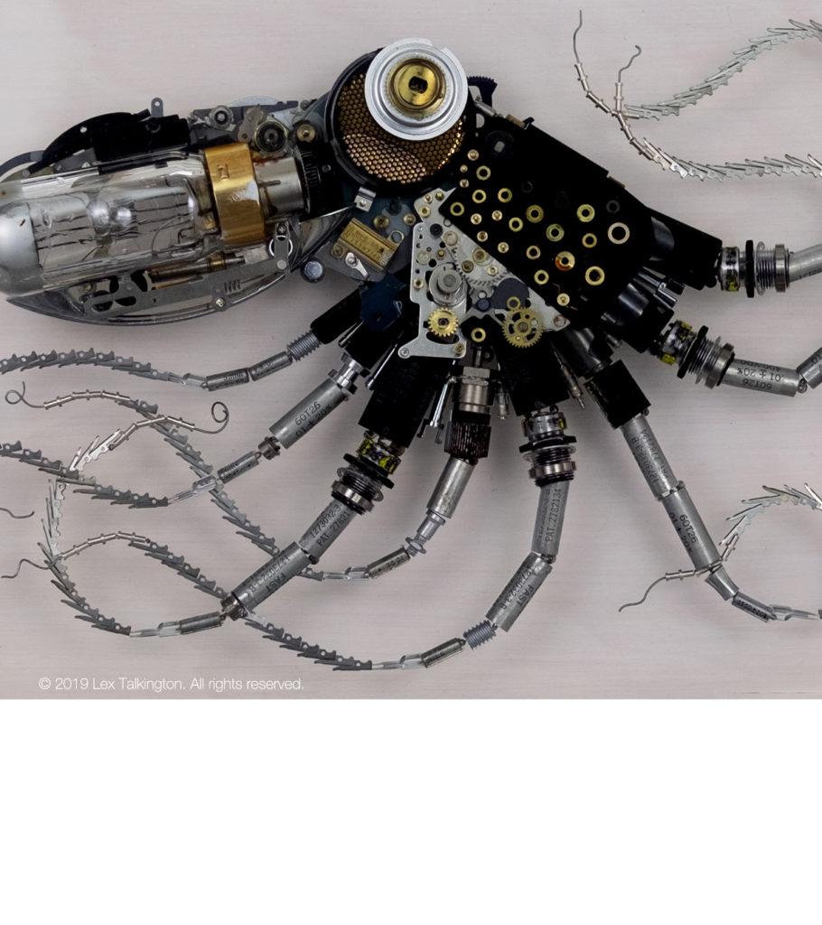 lex talkington black octopus sculpture