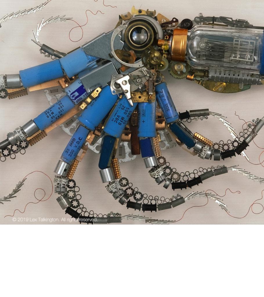 lex talkington blue octopus sculpture